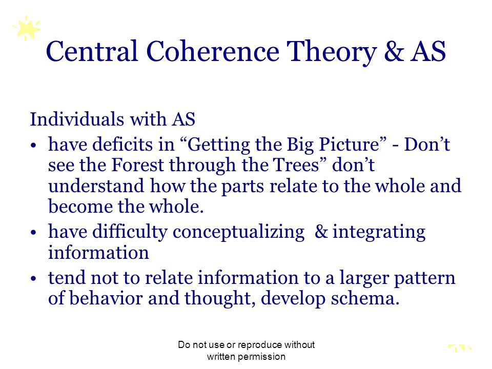 Central Coherence Theory & AS