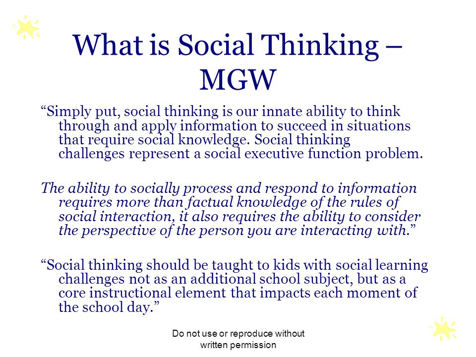 What is Social Thinking – MGW