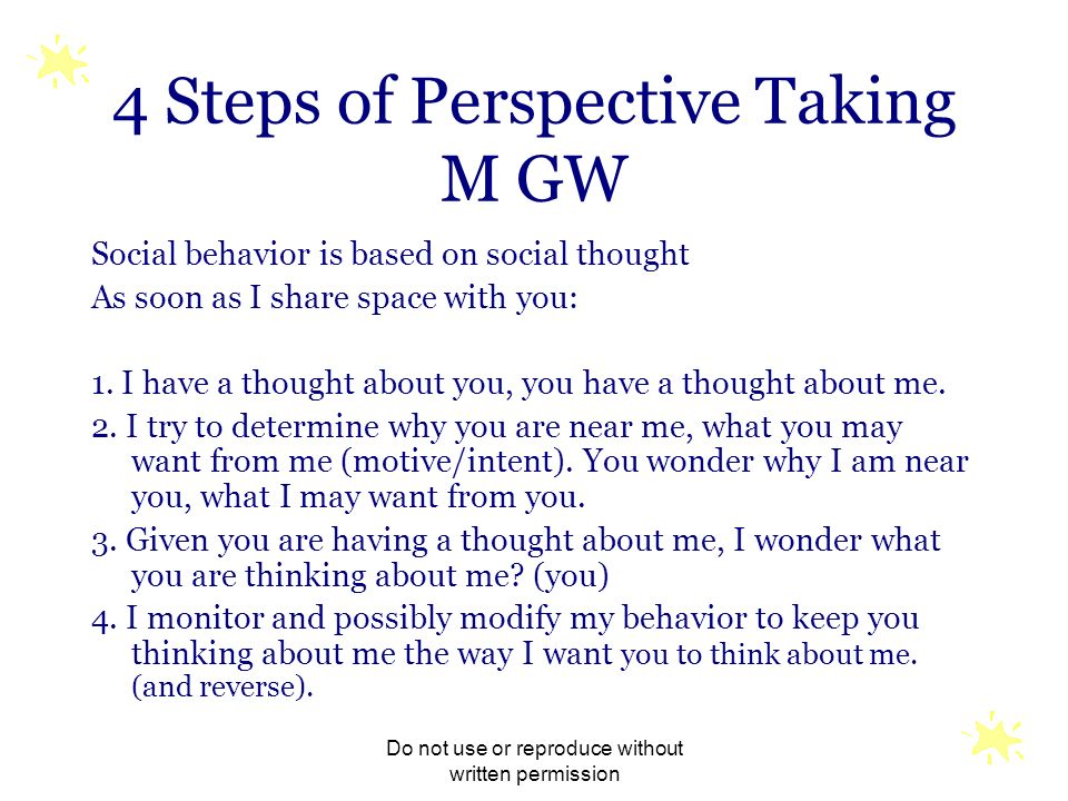 4 Steps of Perspective Taking M GW