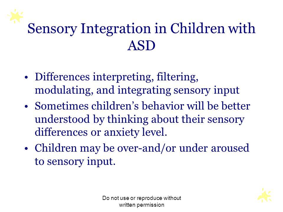 Sensory Integration in Children with ASD