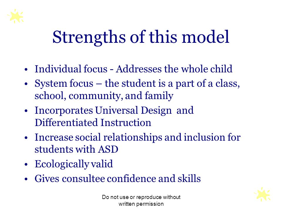 Strengths of this model