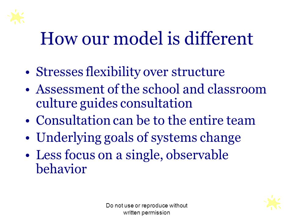 How our model is different