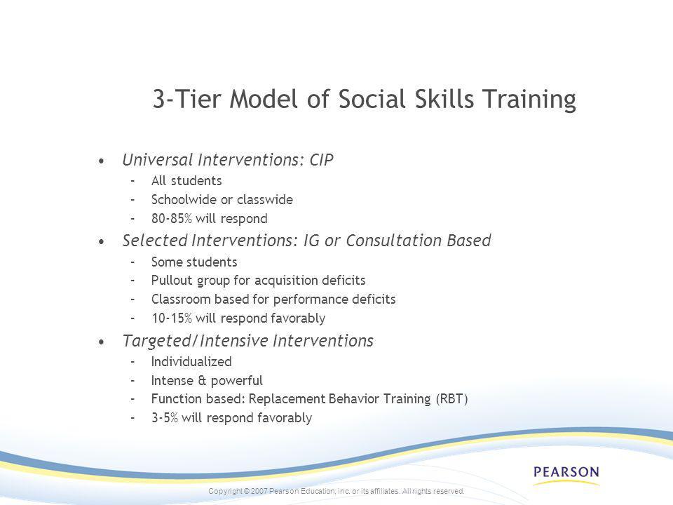 3-Tier Model of Social Skills Training