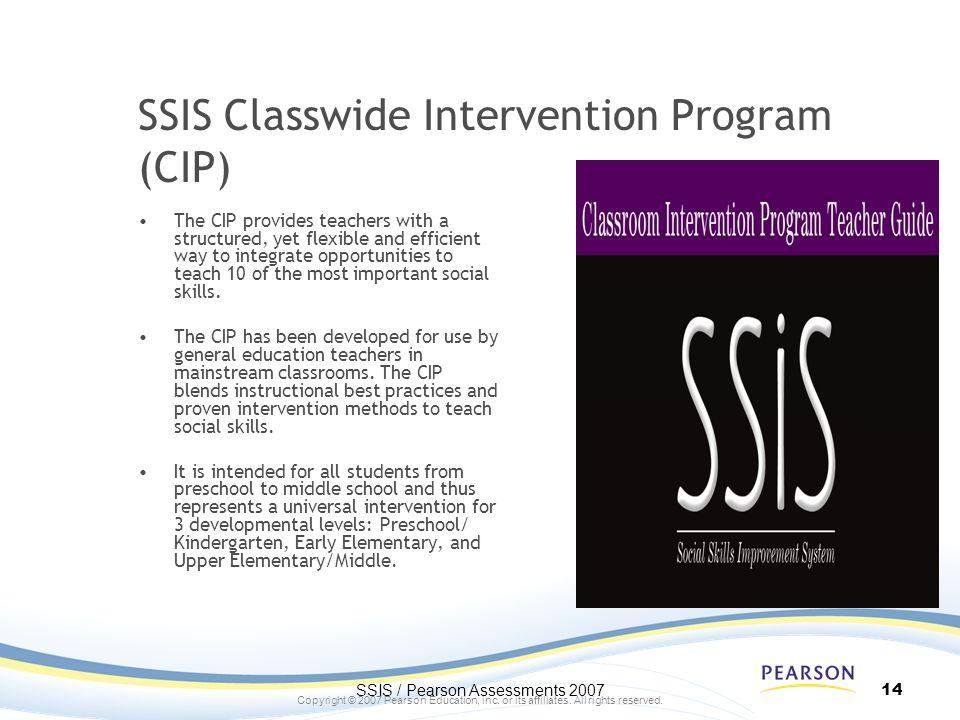 SSIS Classwide Intervention Program (CIP)