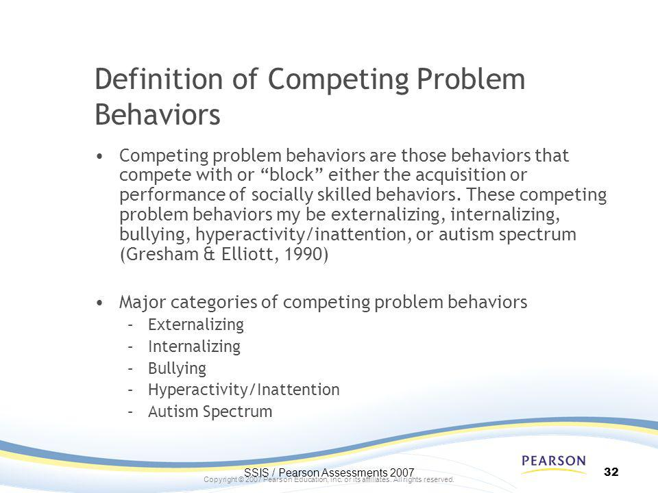 Definition of Competing Problem Behaviors