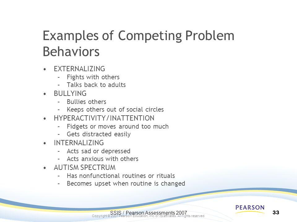 Examples of Competing Problem Behaviors
