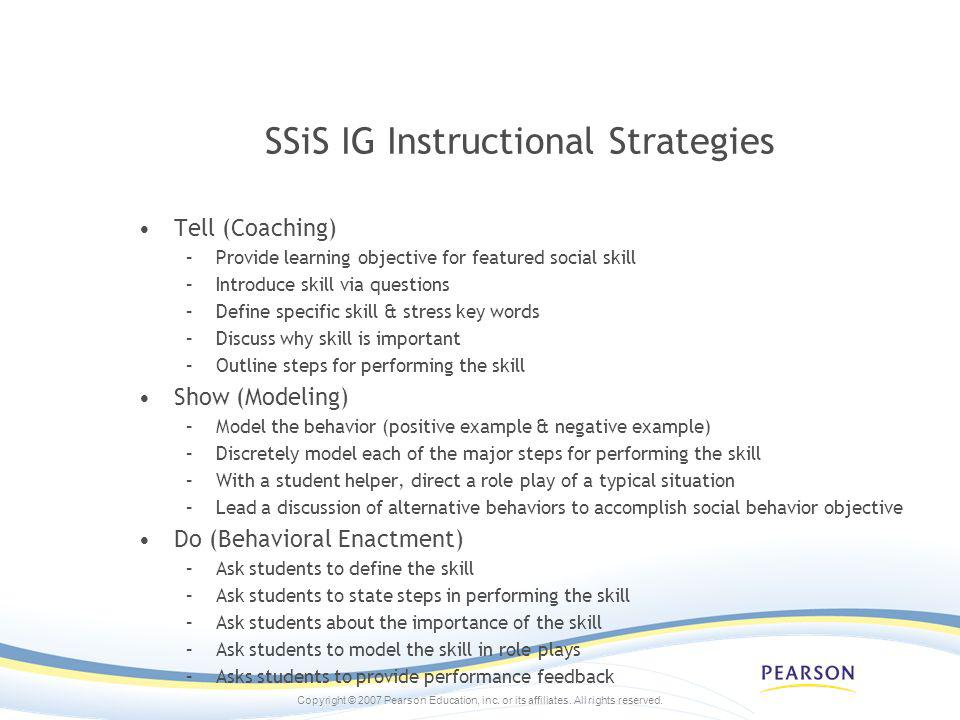 SSiS IG Instructional Strategies