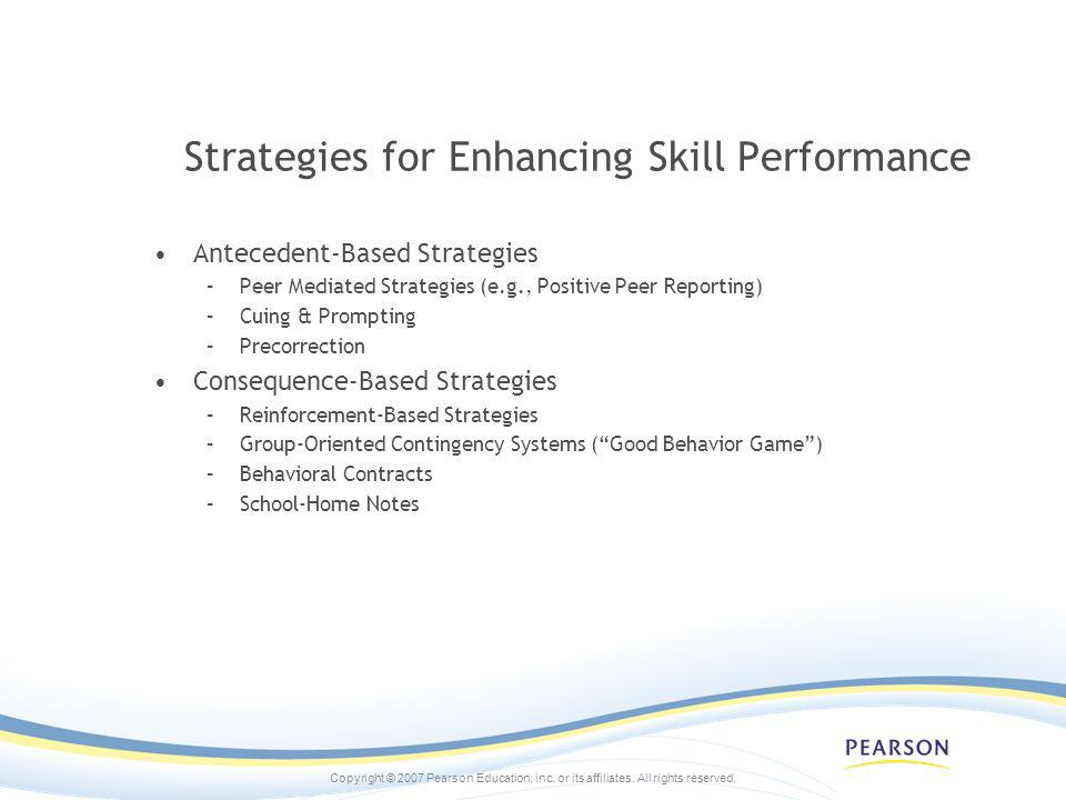 Strategies for Enhancing Skill Performance