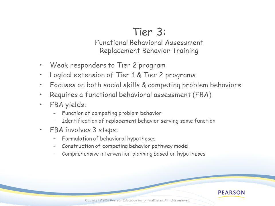 Tier 3: Functional Behavioral Assessment Replacement Behavior Training