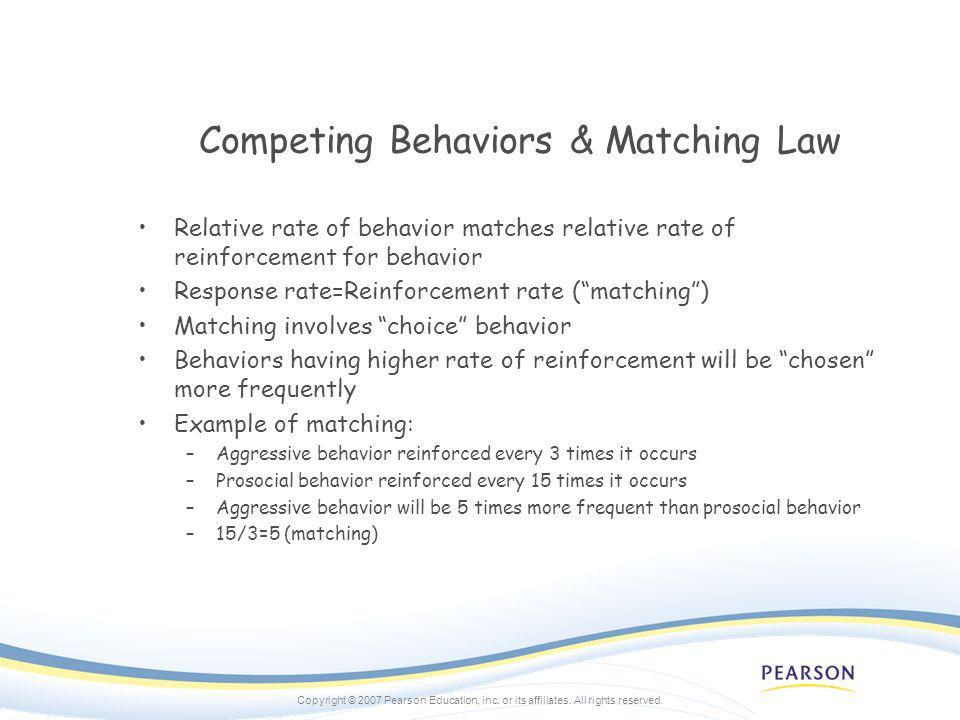 Competing Behaviors & Matching Law