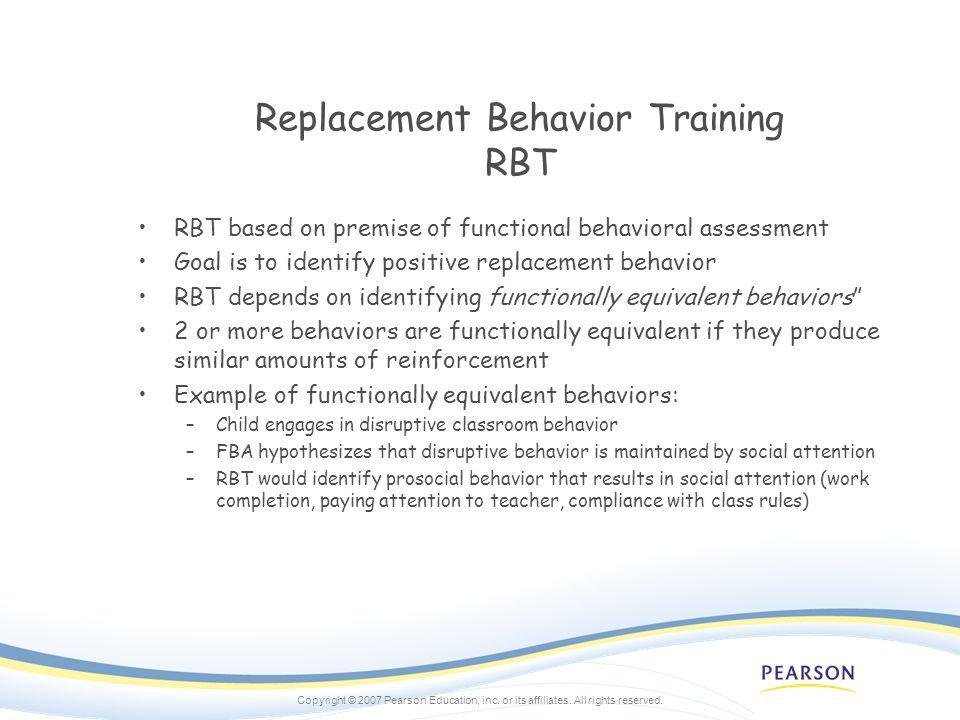 Replacement Behavior Training RBT