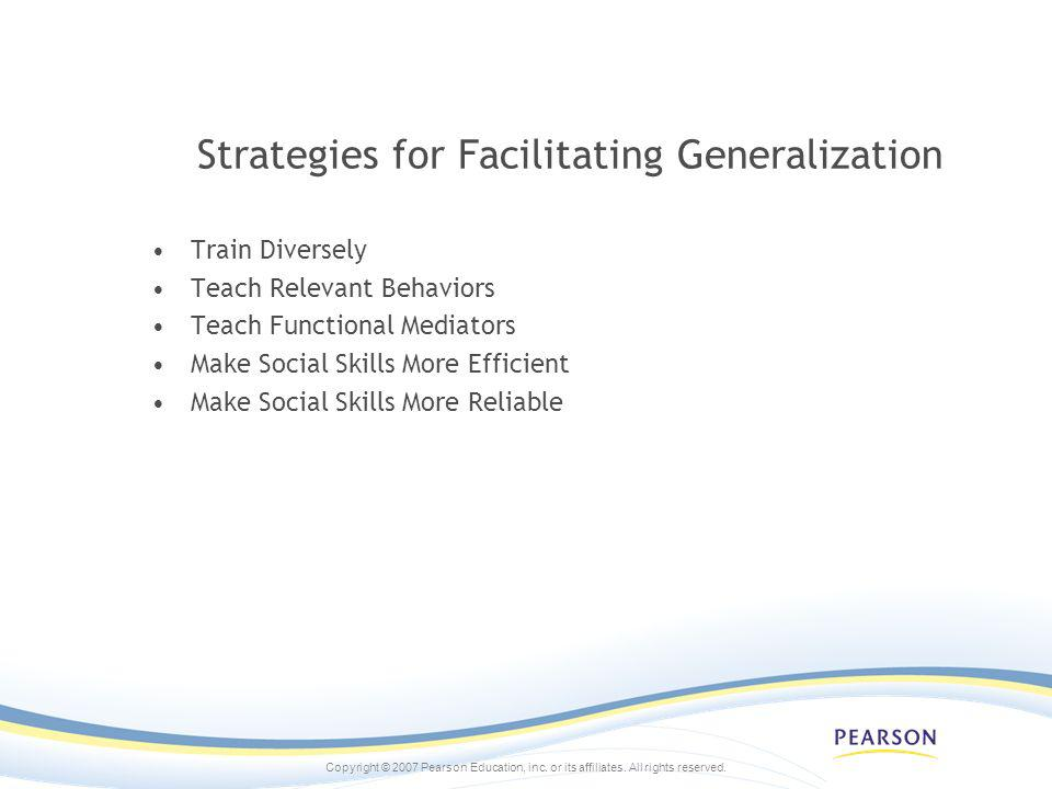 Strategies for Facilitating Generalization