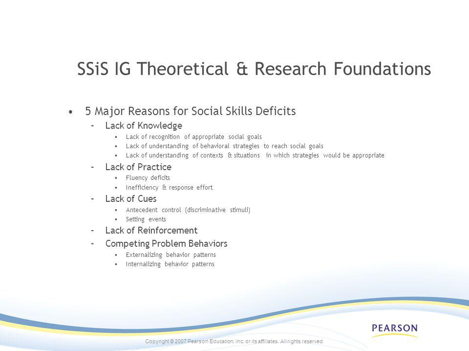 SSiS IG Theoretical & Research Foundations