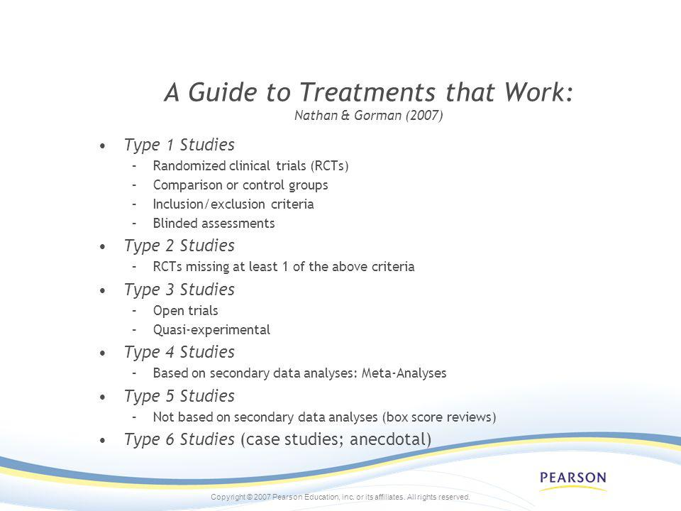 A Guide to Treatments that Work: Nathan & Gorman (2007)