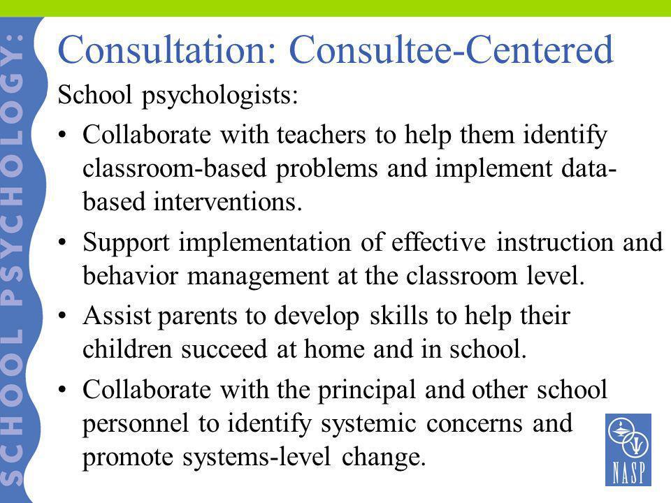 Consultation: Consultee-Centered