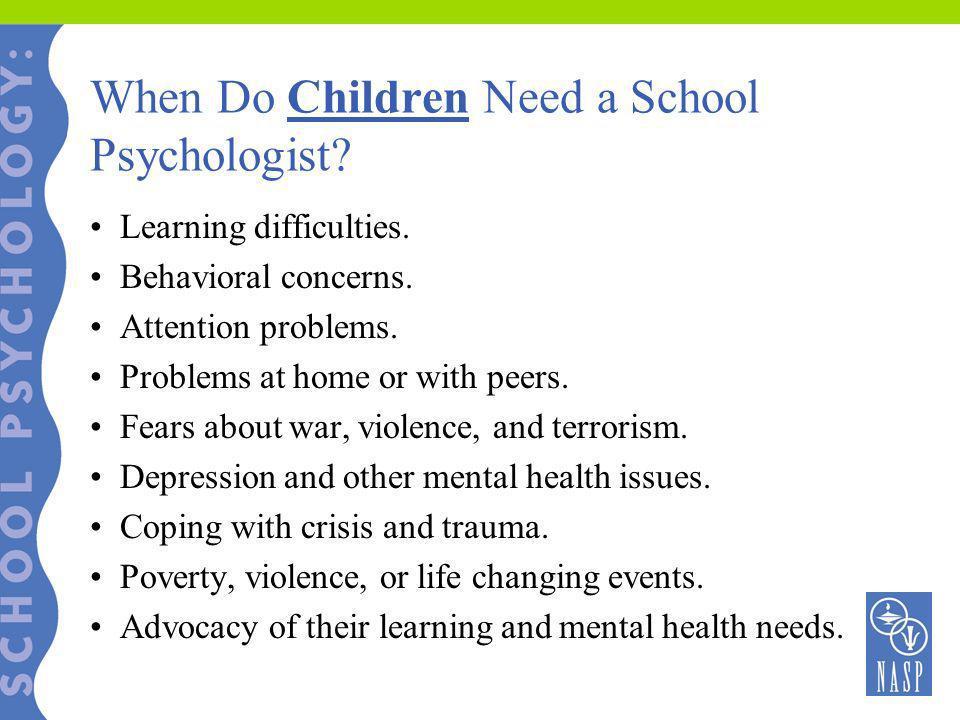 When Do Children Need a School Psychologist