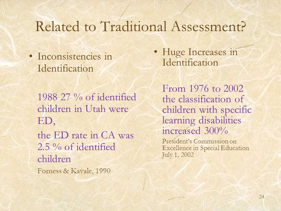 Related to Traditional Assessment
