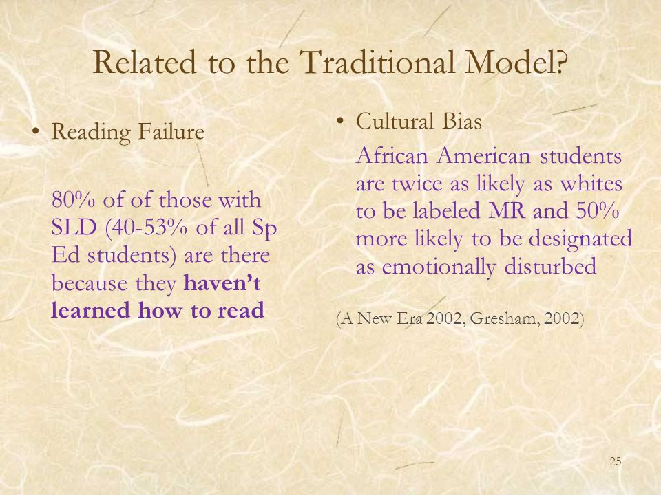 Related to the Traditional Model