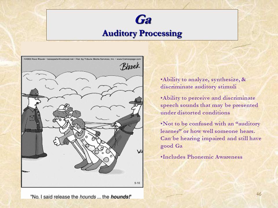 Ga Auditory Processing