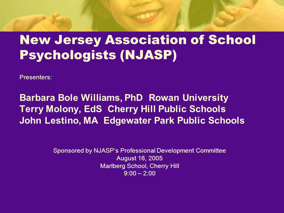 New Jersey Association of School Psychologists (NJASP)