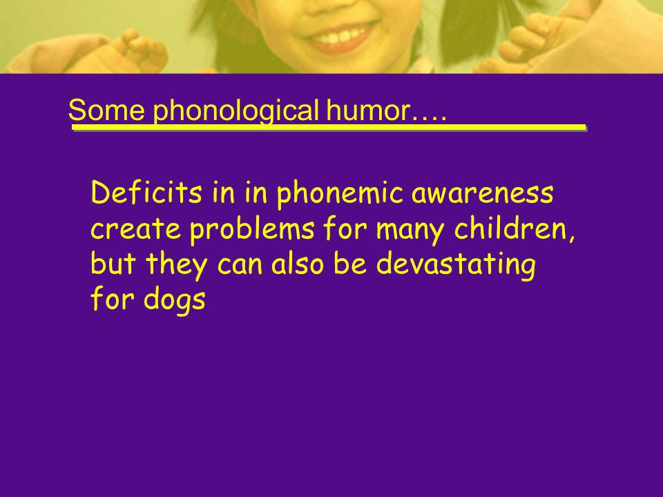 Some phonological humor….