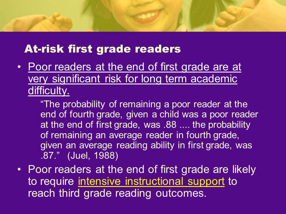 At-risk first grade readers