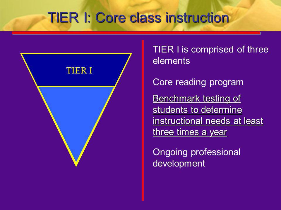TIER I: Core class instruction