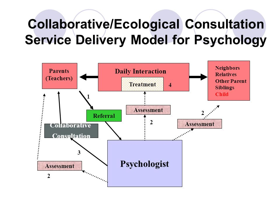 Collaborative/Ecological Consultation Service Delivery Model for Psychology