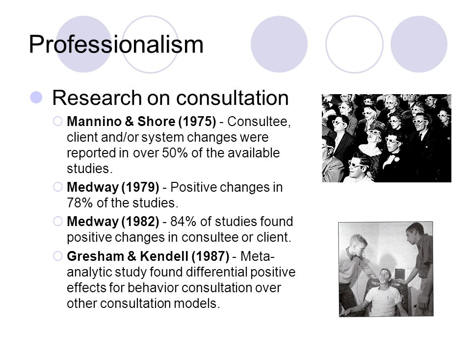 Professionalism Research on consultation