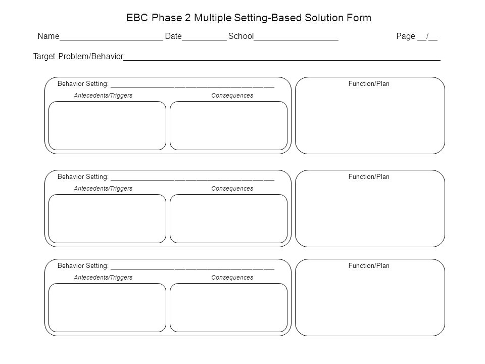 EBC Phase 2 Multiple Setting-Based Solution Form