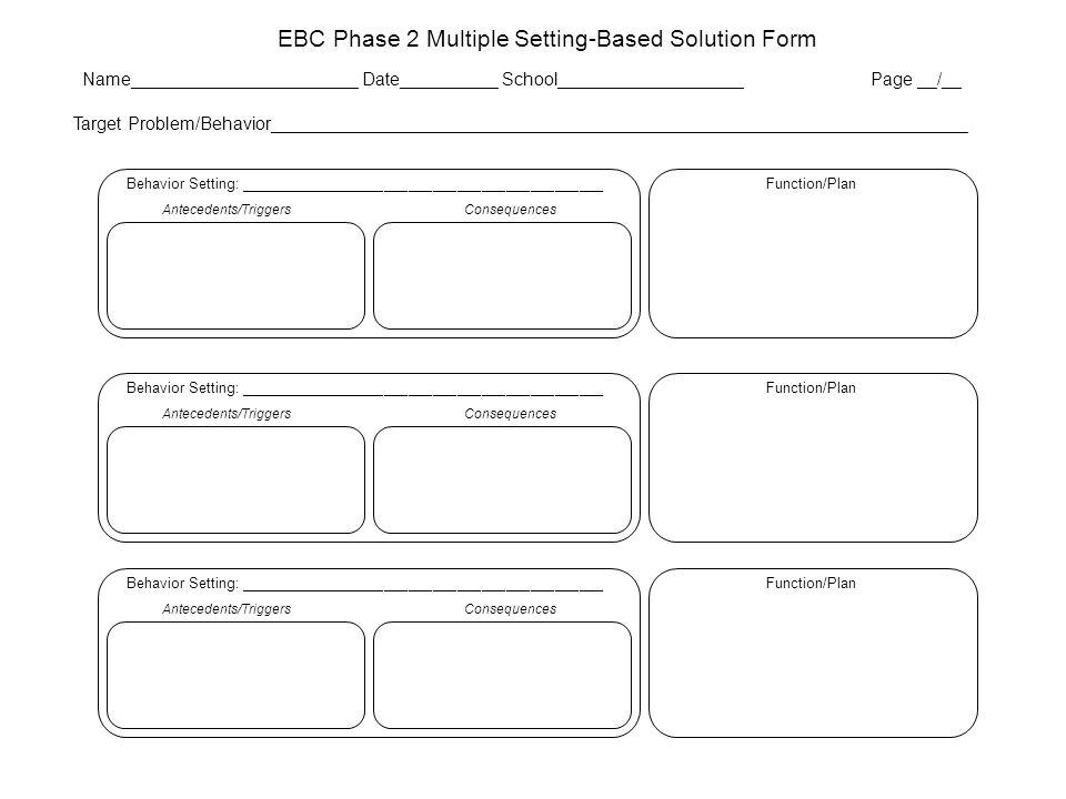 EBC Phase 2 Multiple Setting-Based Solution Form