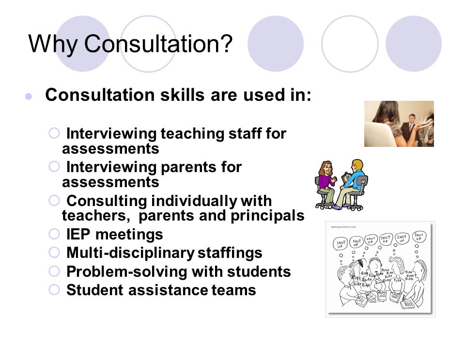 Why Consultation Interviewing teaching staff for assessments