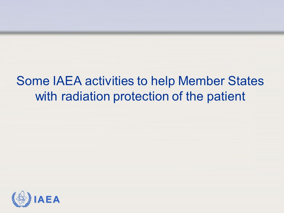 Radiation Protection of Patients Unit - ppt download