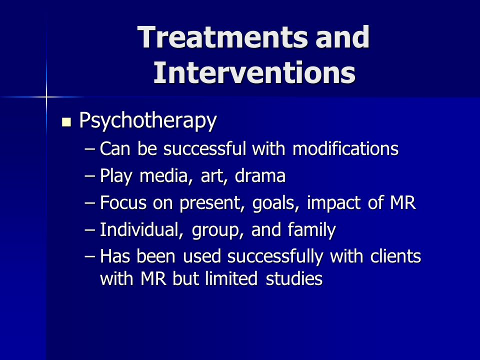 Treatments and Interventions