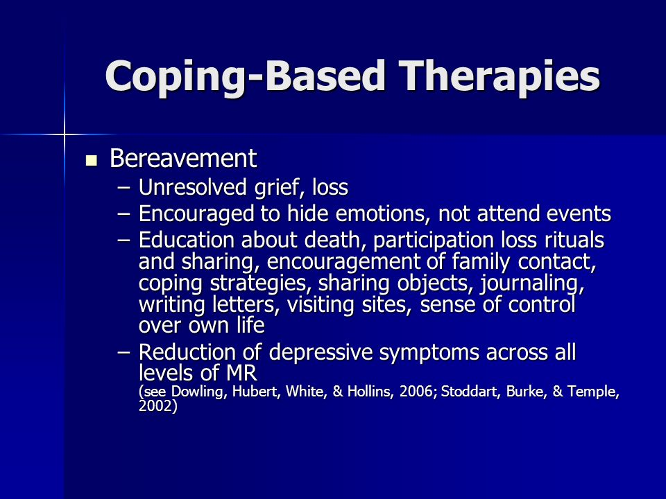 Coping-Based Therapies