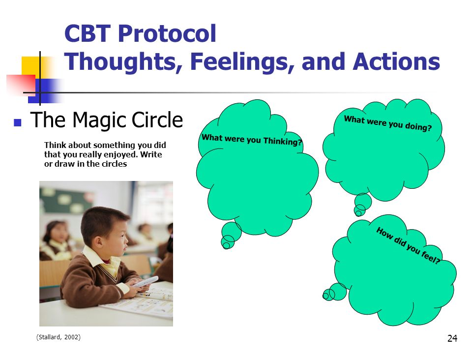 CBT Protocol Thoughts, Feelings, and Actions