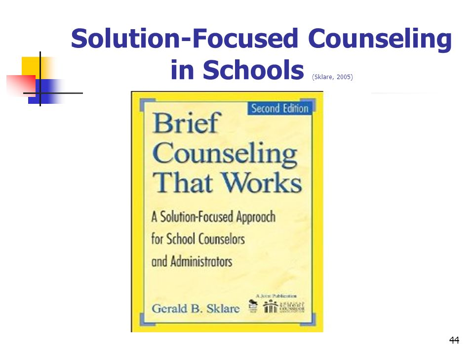 Solution-Focused Counseling in Schools (Sklare, 2005)
