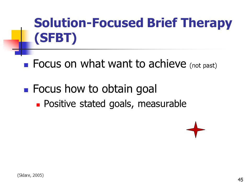 Solution-Focused Brief Therapy (SFBT)