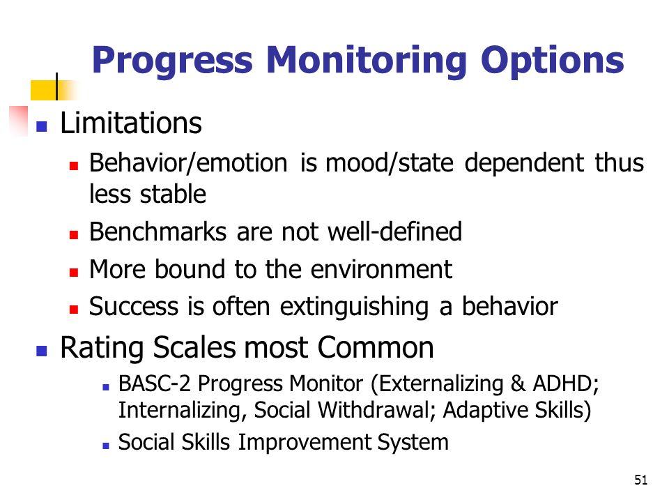 Progress Monitoring Options