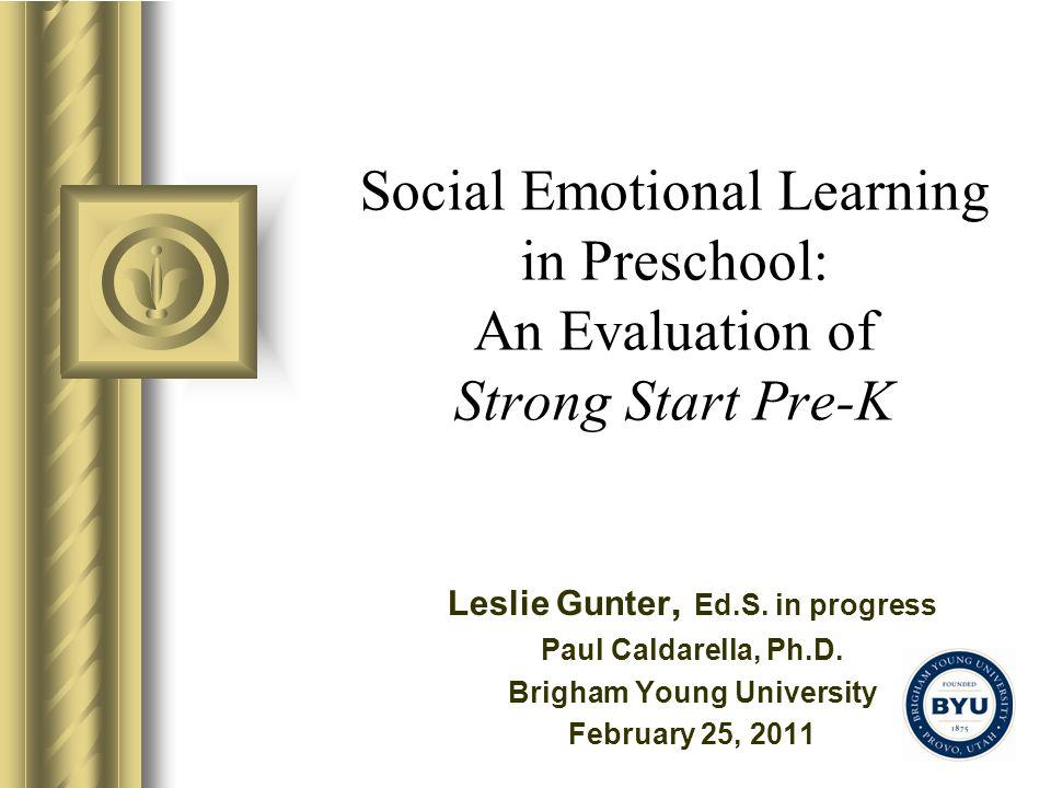 Leslie Gunter, Ed.S. in progress Brigham Young University