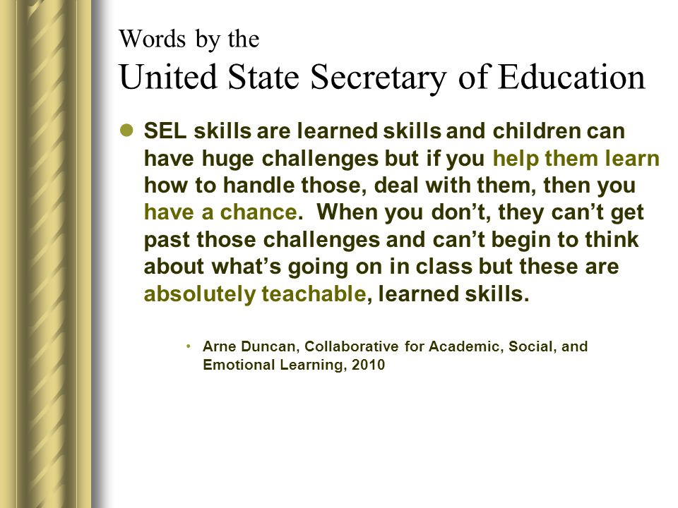 Words by the United State Secretary of Education