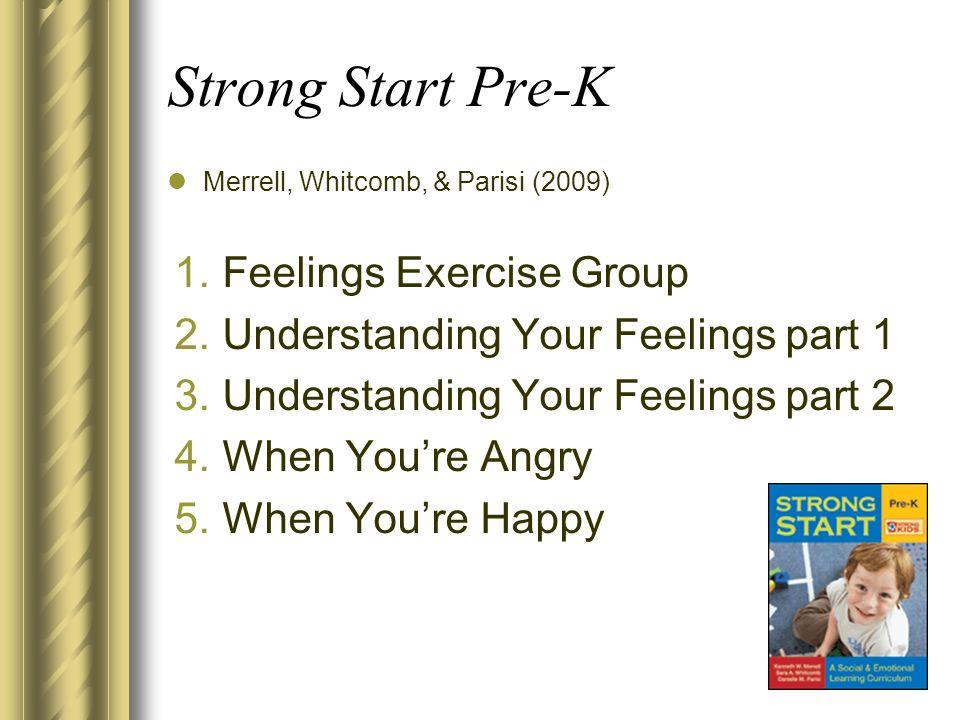 Strong Start Pre-K Feelings Exercise Group