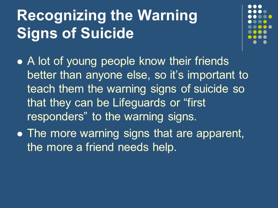 Recognizing the Warning Signs of Suicide