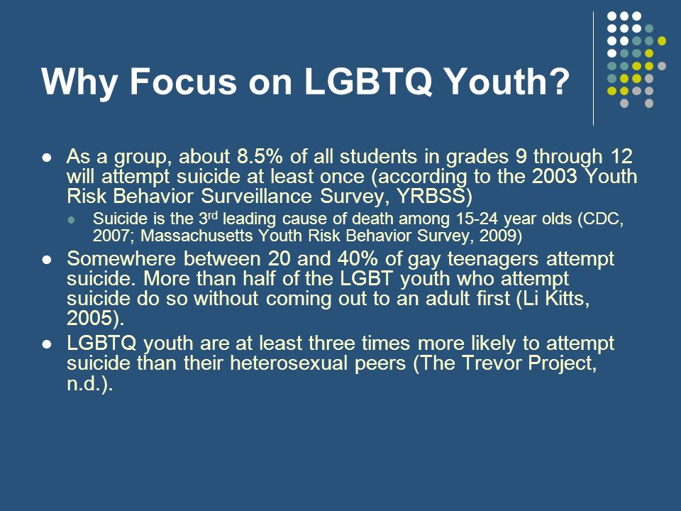Why Focus on LGBTQ Youth