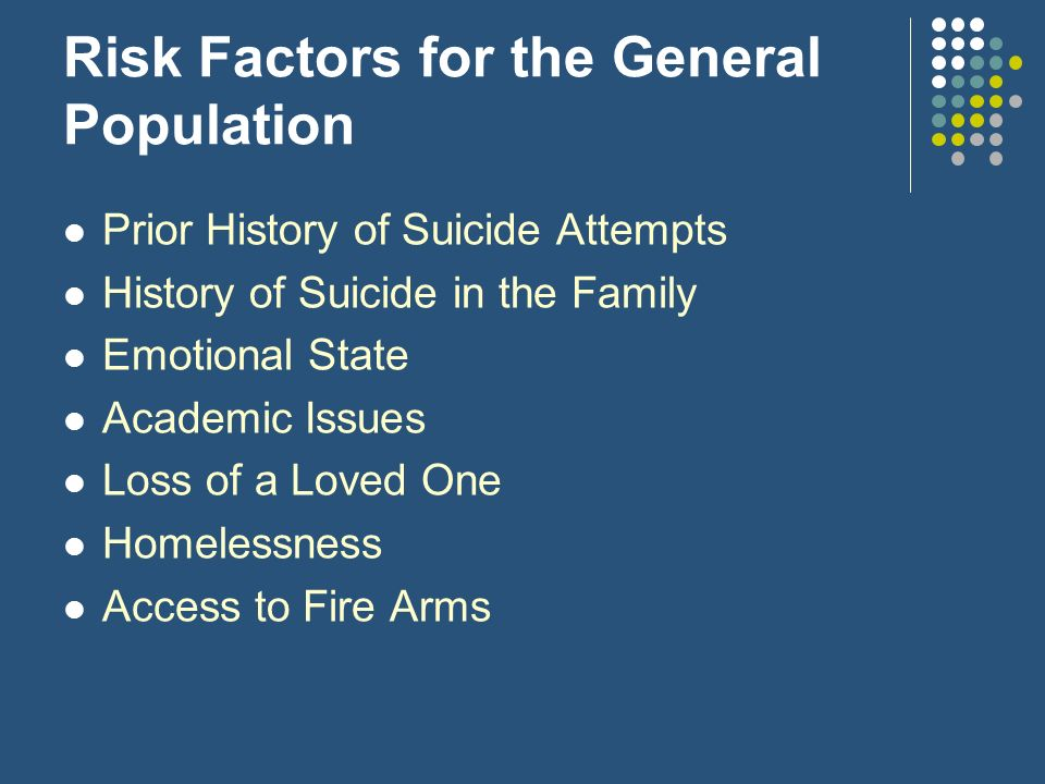 Risk Factors for the General Population