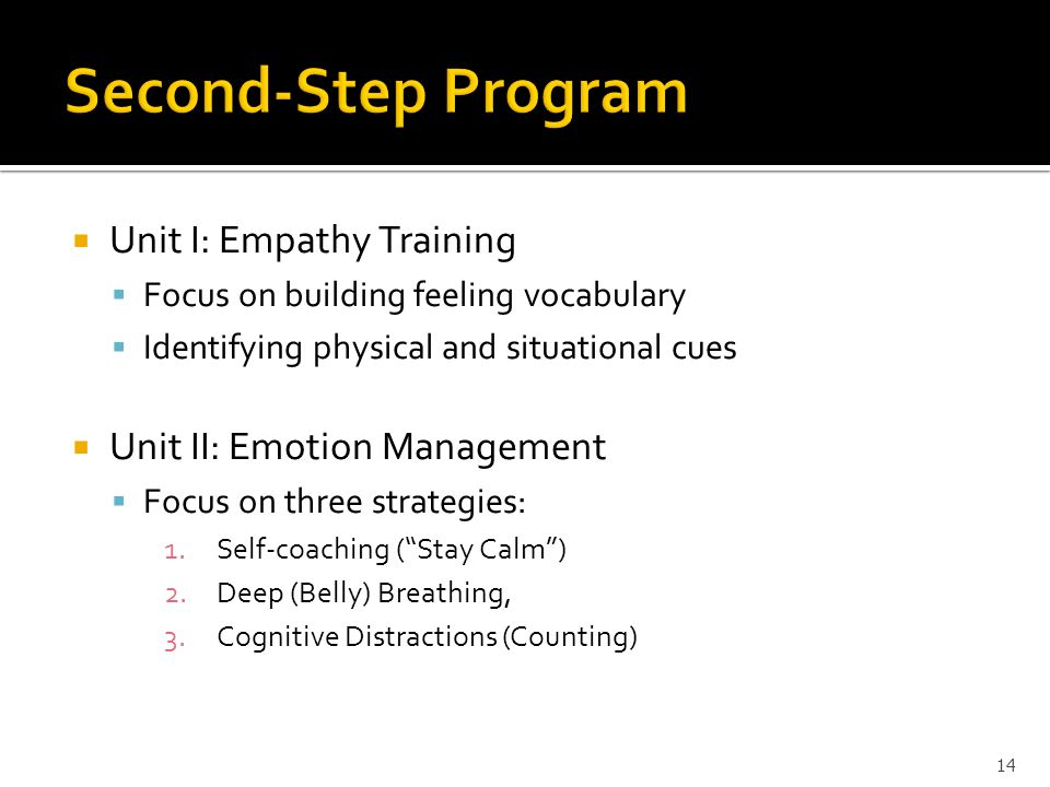 Second-Step Program Unit I: Empathy Training