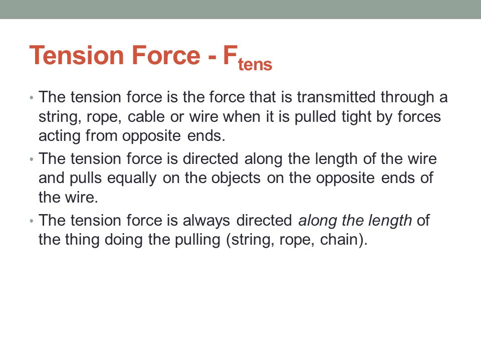 Tension Force - Ftens