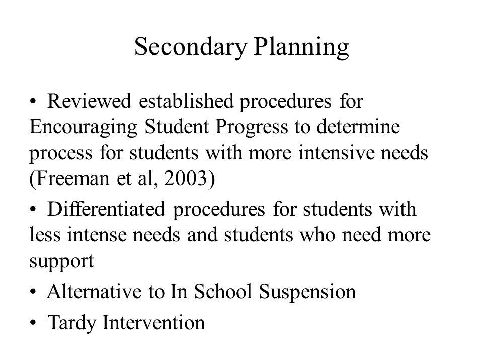 Secondary Planning