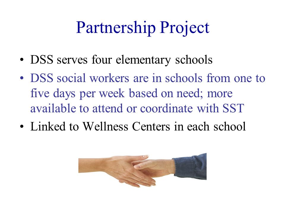 Partnership Project DSS serves four elementary schools
