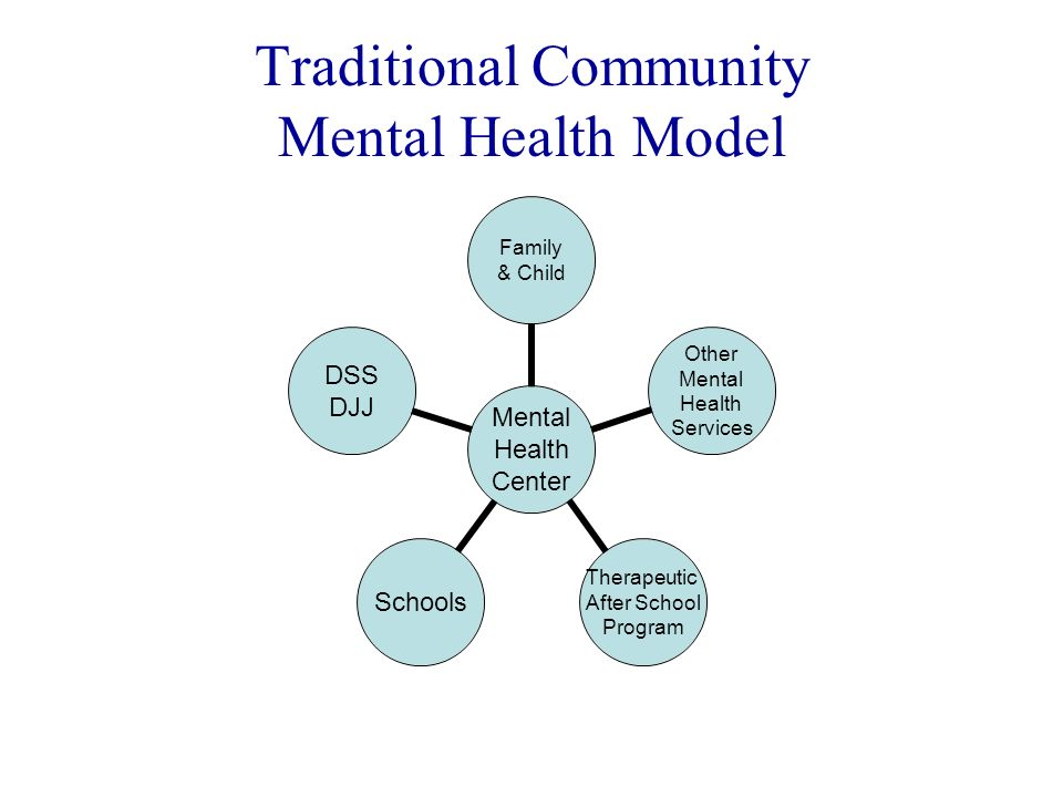 Traditional Community Mental Health Model